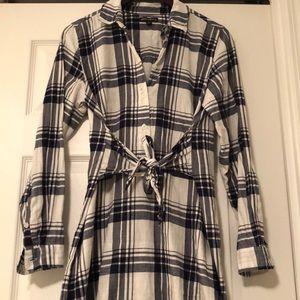 J. Crew MERCANTILE 100% cotton flannel t-dress